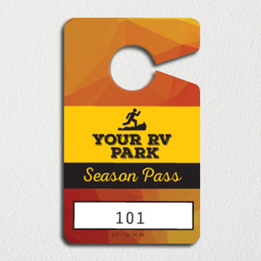 hanging parking pass template - custom quote for in stock non personalized camping permit