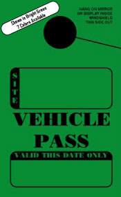 IN STOCK Non-Personalized Campground Vehicle Pass. Mirror Hang Tags (sku: 200002)