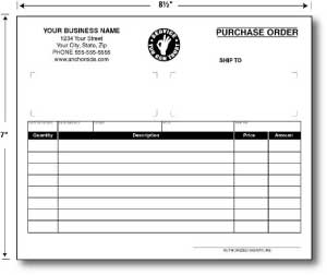 Carbonless Purchase Orders 8.5 x 7 (sku: 100012)