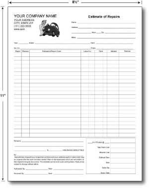 estimate form