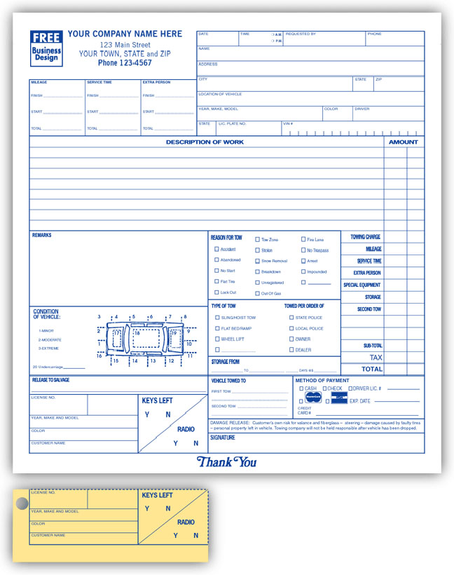 Auto Invoice For Car