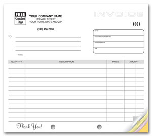 Generic Multiple Use Invoice 8.5 x 11 (sku: 100017)