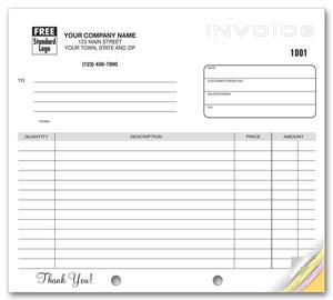 generic multiple use invoice 85 x 11 sku 100017 - Generic Invoice